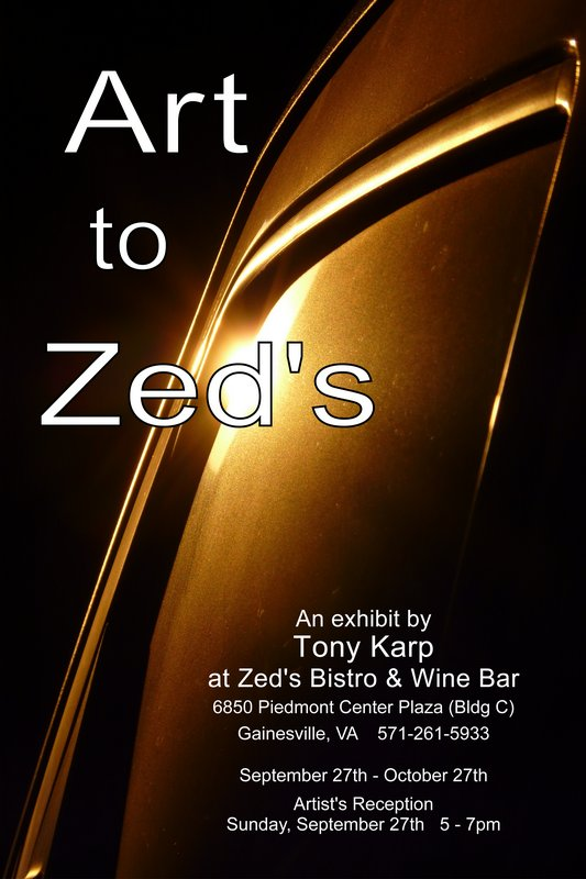 Art to Zed's - an exhibit by Tony Karp - by Tony Karp