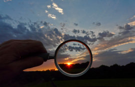 Sunset and the Far-up Lens - by Tony Karp